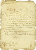 Autographs:Military Figures, Captain Juan Garza Autograph Letter Signed Regarding Prisoners. ...