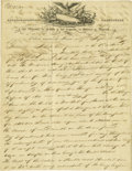 Books:Early Printing, Captain J. B. Grayson Holographic Document Signed. ...