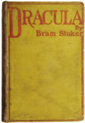 Books:First Editions, Bram Stoker. Dracula. Westminster: Archibald Constable and Company, 1897....