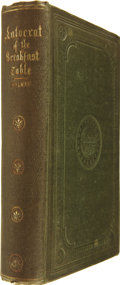 Books:First Editions, Oliver Wendell Holmes. The Autocrat of the Breakfast-Table.Boston: Philips, Sampson and Company, 1858....