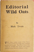 Books:First Editions, Mark Twain. Editorial Wild Oats. New York: 1905....