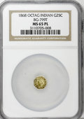 California Fractional Gold: , 1868 25C Indian Octagonal 25 Cents, BG-799T, High R.5, MS65Prooflike NGC. (#71...