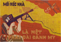 Mainstream Illustration, VIETNAMESE WAR PROPAGANDA POSTER PAINTING (1960s). Moi Noc NhaLa Mot Phad Dai Danh My. Mixed-media on paper. 19.5 x 28 ...
