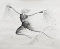 Mainstream Illustration, ALBERT HIRSCHFELD (American 1903 - 2003). Peter Pan, 1998.Lithograph print. 22 x 27 in.. Signed lower right in pencil. ...