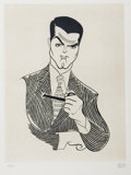 Mainstream Illustration, ALBERT HIRSCHFELD (American 1903 - 2003). Cary Grant.Etching. 12.5 x 9.5 in.. Signed lower right. ...