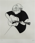 Mainstream Illustration, ALBERT HIRSCHFELD (American 1903 - 2003). Jerry Garcia,2000. Lithograph print. 20.5 x 17 in.. Signed lower right. ...