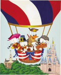 Mainstream Illustration, AMERICAN ILLUSTRATOR (20th Century). Walt Disney's Donald Duckin America on Parade. Acrylic on board. 8 x 7 in.. Not si...(Total: 2 Items)