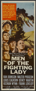 """Movie Posters:War, Men of the Fighting Lady (MGM, 1954). Insert (14"""" X 36""""). War...."""