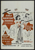 """Movie Posters:Bad Girl, Girls Dormitory Scandal (Roadshow Attractions, 1950). One Sheet(28"""" X 41""""). Bad Girl...."""