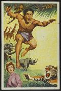 "Movie Posters:Adventure, Tarzan Stock Poster (Unknown, 1960s). One Sheet (27"" X 41"").Adventure...."