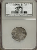 Colonials, 1692M 15DEN French Colonies 15 Deniers--Corroded--NCS. VF Details....