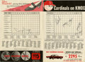 Autographs:Others, 1967 St. Louis Cardinals Scorecard Signed By Roger Maris, Lou Brockand Harry Caray. Exceptional memento from the St. Louis ...