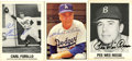 Autographs:Sports Cards, Brooklyn/Los Angeles Dodgers Signed Cards Group Lot of 3. Threeformer major league stars who figure largely in the storied...