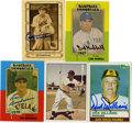 Autographs:Sports Cards, Vintage Baseball Stars Signed Trading Cards Group Lot of 5.Top-notch signatures from each of five prominent baseball figur...