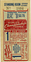 Baseball Collectibles:Tickets, 1944 World Series Game 1 Ticket Stub. From the opening game of theall-St. Louis 1944 World Series we bring you this high-q...