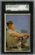 Baseball Cards:Singles (1950-1959), 1953 Bowman Color Mickey Mantle #59 SGC EX-NM 80. One of the mostattractive of all of the Mick's career cardboards, this d...