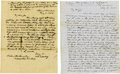 Autographs:Military Figures, [Mexican War] United States Soldier's Letters. ... (Total: 2 Items)