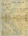 Military & Patriotic:Indian Wars, Reading W. Black Autograph Letter Signed Regarding Negotiationswith the Kickapoo Indians. ...