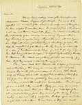 Autographs:Statesmen, Henry Brackenridge Autograph Letter Signed Regarding theInevitability of War with Mexico. ...