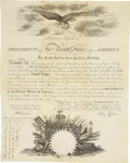 Autographs:U.S. Presidents, John Tyler Partly Printed Document Signed ...