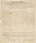 Autographs:Statesmen, Samuel Houston Signed Land Grant as Governor of Tennessee....