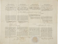 Autographs:U.S. Presidents, James Buchanan Partly Printed Document Signed as President. ... (Total: 2 Items)