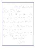 Autographs:Celebrities, Autograph Letter Signed by Jackie Kennedy as First Lady. One page,small 8vo, on her personal Hyannis Port, Massachusetts le...