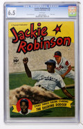 Golden Age (1938-1955):Miscellaneous, Jackie Robinson #4 (Fawcett, 1950) CGC FN+ 6.5 White pages....