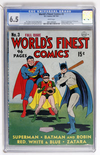 World's Finest Comics #3 (DC, 1941) CGC FN+ 6.5 White pages