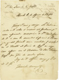 Autographs:Military Figures, General Marcial Borrego Autograph Letter Signed. ...