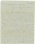 Autographs:Military Figures, Rosario del Campillo Autograph Letter Signed on the Outbreak of Peace. ...