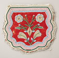 American Indian Art:Beadwork and Quillwork, AN EASTERN WOODLANDS BEADED CLOTH POUCH. c. 1890...