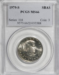 Susan B. Anthony Dollars: , 1979-S SBA$ MS66 PCGS. PCGS Population (671/176). NGC Census:(166/80). Mintage: 109,576,000. ...