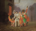 Fine Art - Painting, Russian:Modern (1900-1949), SERGEI YUREVICH SOUDEIKIN (Russian, 1886-1958). Carnival.Pastel on paper laid on board. 13-3/8 x 15-5/8 inches (34.0 x ...