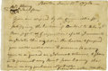 Autographs:Military Figures, Benjamin Lincoln Autograph Letter Signed...