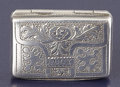 Silver Smalls:Vinaigrettes, A WILLIAM IV SILVER VINAIGRETTE. Joseph Bettridge, Birmingham,England, 1831-32. Marks: (lion passant), (anchor), (monarch p...