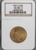 Indian Eagles: , 1912-S $10 XF45 NGC. NGC Census: (12/583). PCGS Population(20/515). Mintage: 300,000. Numismedia Wsl. Price for NGC/PCGS c...
