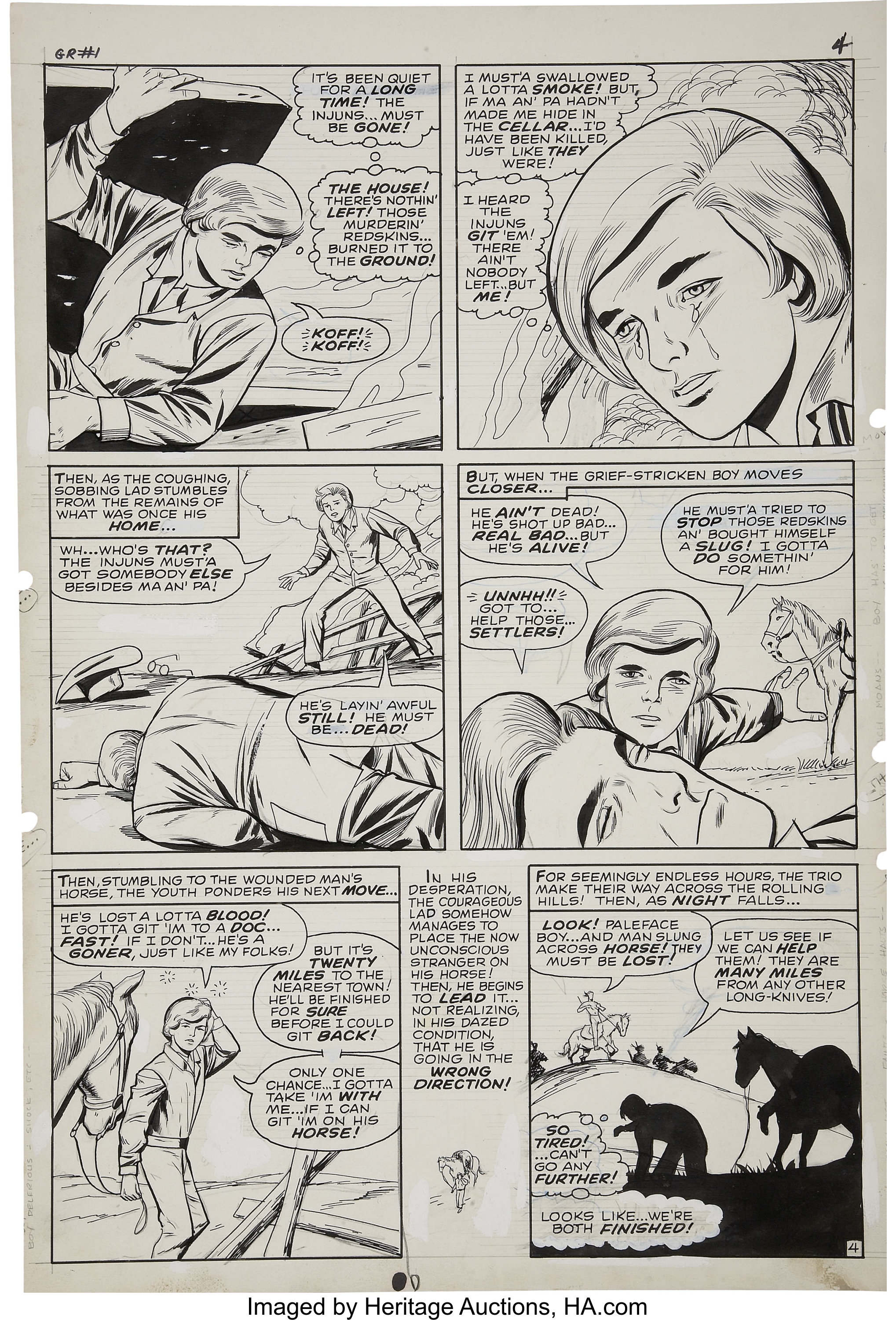 Dick Ayers and Vince Colletta - Ghost Rider #1, page 4 Original Art