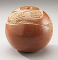 American Indian Art:Pottery, A SAN ILDEFONSO REDWARE SEED JAR. Tony Da. c. 1970...