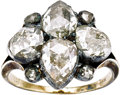 Estate Jewelry:Rings, Victorian Diamond, Silver-Topped Gold Ring. ...