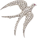 Estate Jewelry:Brooches - Pins, Diamond, Ruby, White Gold Brooch. ...