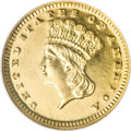 Proof Gold Dollars, 1870 G$1 PR63 NGC....
