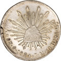 Mexico, Mexico: Republic Cap and Rays 8 Reales 1824Mo-JM, ...