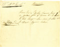 Miscellaneous:Ephemera, Rare Mexican War Voucher Allowing Cavalry Horses to Pasture. ...