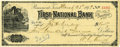 Autographs:Statesmen, John Henry Kirby and W. C. Averill Signed Check. ...