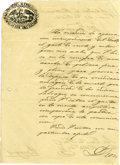 Autographs:Non-American, José Ygnacio de Saldaña Letter Signed Regarding the Purchase ofPowder For Use in Against the Savage Indians. ...