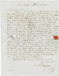 Autographs:Non-American, Luis Ortigosa Autograph Letter Signed From Mexico City....