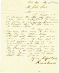 Autographs:Military Figures, [Fort Inge, Texas] Russell Varnell Autograph Letter Signed. ...