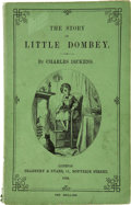 Books:First Editions, Charles Dickens. The Story of Little Dombey. London:Bradbury & Evans, 1858....