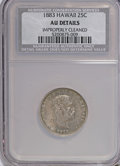 Coins of Hawaii, 1883 25C Hawaii Quarter--Improperly Cleaned--NCS. AU50 Details. NGCCensus: (13/693). PCGS Population (47/1156). Mintage: 5...